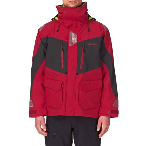 Musto BR2 Offshore Jacket Red/Dark Grey SB0033 Size-- - Small