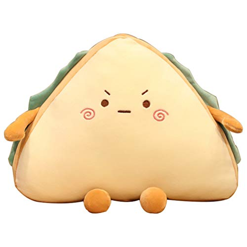 Wuawtyli Plush Pillow,Simulation Food Sandwich Cake Plush Toy Cute Bread Stuffed Doll Soft Pillow Sofa Bed Cushion Birthday Gift for Kids Girls
