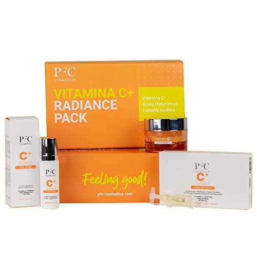 PFC COSMETICS Pack Vitamin C+ Radiance Tratamiento de Belleza Específico con Vitamina C, Ácido Hialurónico y Centella Asiática, 3 Unidades
