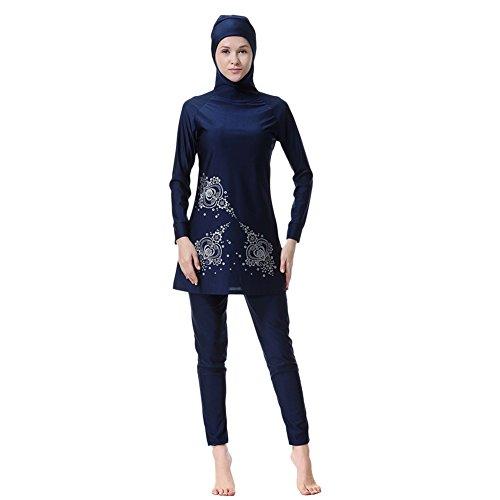 Hougood zwemmen kostuum voor vrouwen islamitische moslim Hijab volledige dekking Burkini badmode dames bedrukte badpakken Tankinis zonbescherming badpakken