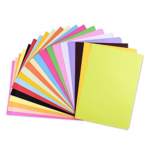 20 Farben, A4 80 g/m², 100 Blatt Verdicken Buntpapier Farbigen A4 Kopierpapier Papier, Farbige Buntes Papier Ton-Papier, für DIY Kunst Handwerk (20 * 30cm) (20 Farben, 80 g/m²)