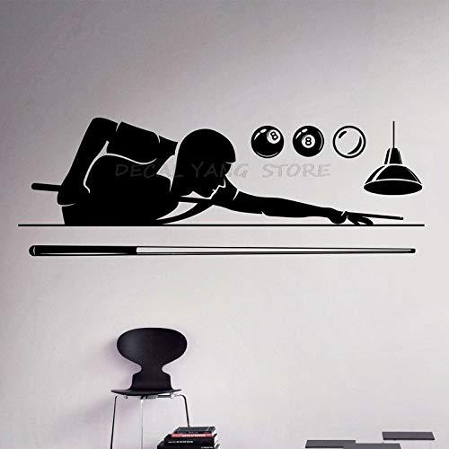 yaofale Billard Pool Wandtattoo Pool Zimmer Hobby Vinyl Aufkleber Sport Kunst Dekoration Home Interior entfernbares Poster auf der Wand Tapete