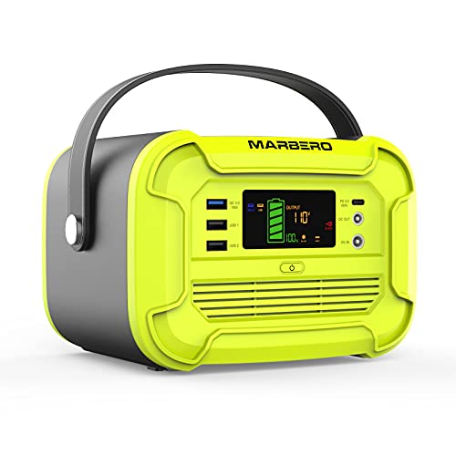 Portable Power Station 300W, 297Wh/82500mAh Marbero Battery Backup Pure Sine Wave AC Outlet Solar Generator Power Supply for Outdoor Camping Fishing Travel Emergency CPAP Home