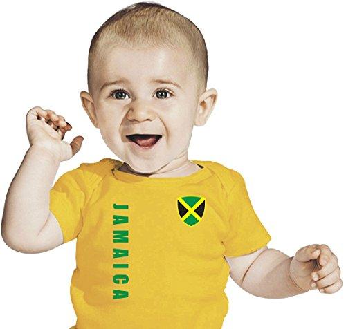 La Jamaïque Baby T-Shirt – Maillot Look – Taille 68–86 – Jaune - Jaune -