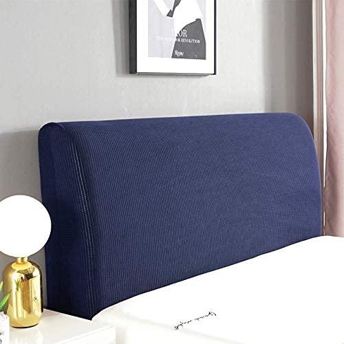 Funda elástica para cabecera de cama de color sólido a prueba de polvo moderno Jacquard cama Head Cover para dormitorio Decorativo..