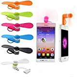 6Pcs Mini Cell Phone Fan - Colorful and Powerful 2-in-1 Fan, 3-in-1 Fan ,for iPhone/iPad/Android Smartphone/Tablet - Cell Phone Summer Accessories (2-in-1)