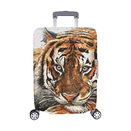 Tigre Stock de ilustración Patrón Spandex Maleta Trolley de Viaje Cubierta Protectora para de Maleta Protector de Equipaje 28.5 X 20.5 Inch