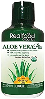 Country Life Aloe Vera Plus - Realfood Organics - 32 Fl Ounce Liquid - May Help Support Healthy Digestion and More - Glute...