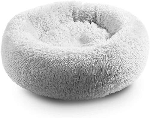 LLKK Donut Cat Bed Calmante para Perros,cálida Cueva Nido para Dormir,casa para Cachorros,para Gatos y Perros pequeños,Tres Colores