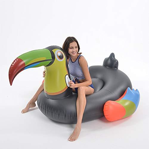 Juguete inflable de verano de agua de los niños adultos natación burbuja anillo de natación flotante drenaje en la cama flotante reclinable Blacktoucan