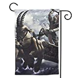 MINIOZE Yule Goat Vikings Christmas Yuletide Pagan Themed Welcome Extra Big Large Jumbo for Party Outdoor Outside Decorations Ornament Picks Garden Yard Decor Double Sided 12.5 X 18 Flag