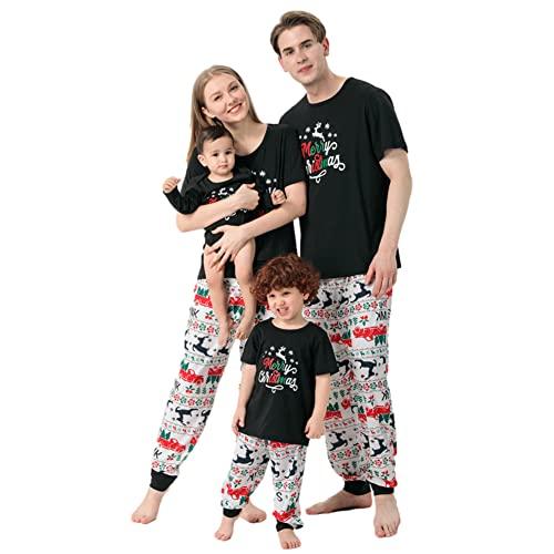Conjunto de pijamas de Navidad a juego para la familia, ropa de dormir para el hogar, pijamas para bebé, niños, mamá, papá, Niño, 2 años