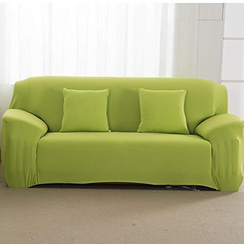 Funda de sofá elástica Gris sólida Funda de sofá con Todo Incluido para Sala de Estar Funda de sofá A14 2 plazas
