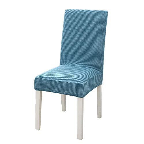 4 fundas para silla de color sólido de forro polar grueso, de una sola pieza, elásticas, para hotel, restaurante, antiincrustaciones, para silla