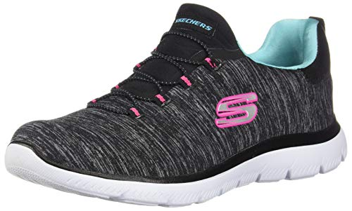 Skechers Summit - Quick Getaway Black/Light Blue 7.5