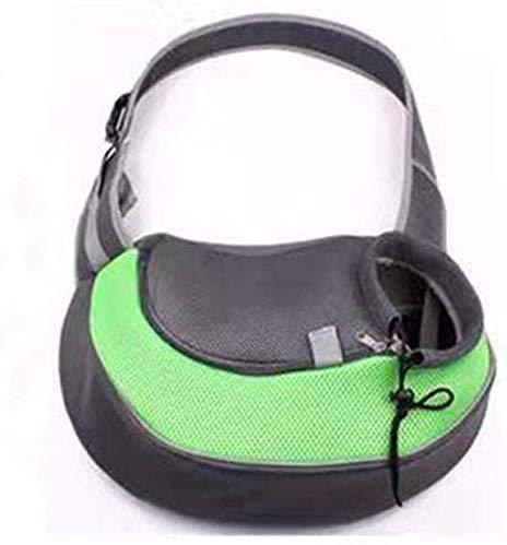 Haustier-Riemen-Fördermaschine, Hundefördermaschine-Riemen-Hundekatze-Riemen-Haustier-Tragetasche Einzel-Schulter-Carry-Handtasche for Haustiere Below 9LB (Color : Green)