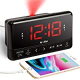 Best Projection Clocks - Projection Alarm Clock Radio, Bedside Digital LED Projector Review