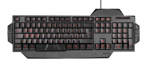 Speedlink RAPAX Gaming Keyboard - USB Gaming Tastatur, kompakte Bauform, höhenverstellbar, hervorgehobene WASD-Tasten, FR Layout, schwarz