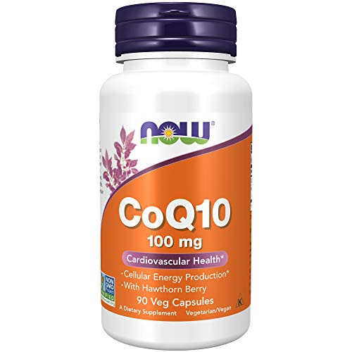 Now Foods CoQ10 100mg with Hawthorn Berry Standard - 90 Cápsulas