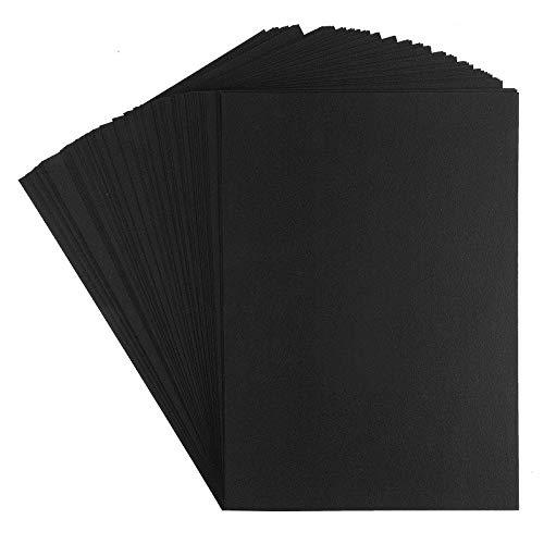 Premium Tonkarton | Fotokarton | Din A4 (schwarz | 220 g/qm | 100 Stück)
