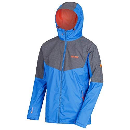 Regatta Alkin II Waterproof and Breathable Reflective Hooded Shell Veste Homme, Oxford Blue/Seal Grey, XXXL