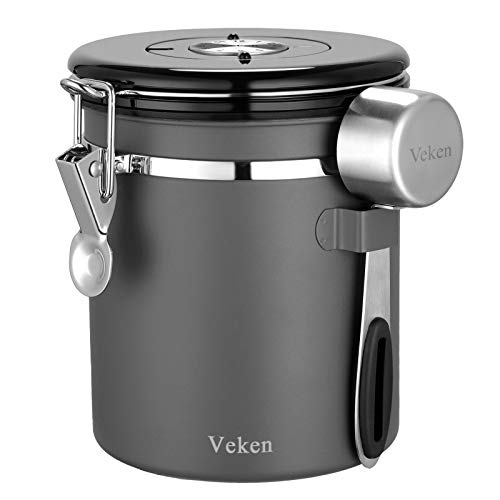 Veken Coffee Canister, Airtight Stainless Steel