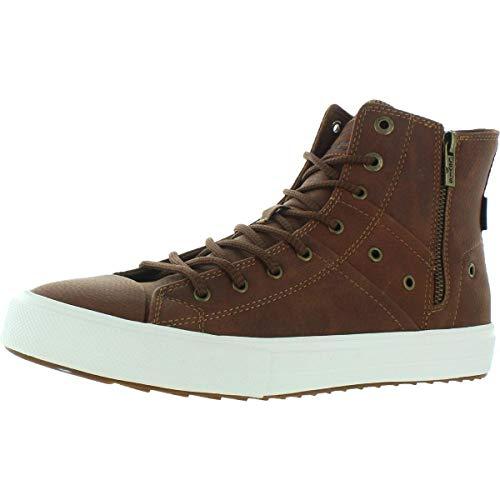 Levi's Mens Zip Ex Casual Mid-Top Fashion Zipper Sneaker Shoe, Tan/Brown, 9.5 M
