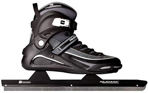 Schreuders Sport Nijdam Pro-Line Semi-Softboot Speed Skate, schwarz/anthrazit, Größe 39