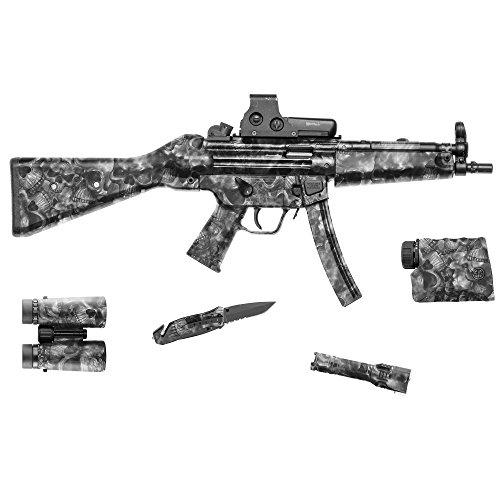 GunSkins Tactical Gear Camouflage-Skin für Gewehr, Vinylfolie, Maße: 20,3x 127cm, damen Herren unisex, Reaper Black