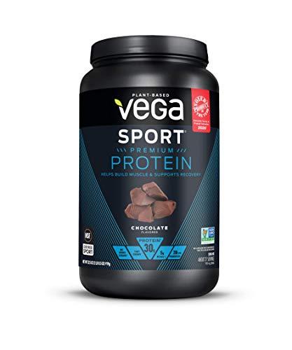 Vega Sport Premium Protein Powder, Chocolate, Plant Based Protein Powder Post Workout - Certified Vegan, Vegetarian, Keto-Friendly, Gluten Free, Dairy Free, BCAA Amino Acid (21 Servings / 2lb 0.5oz)