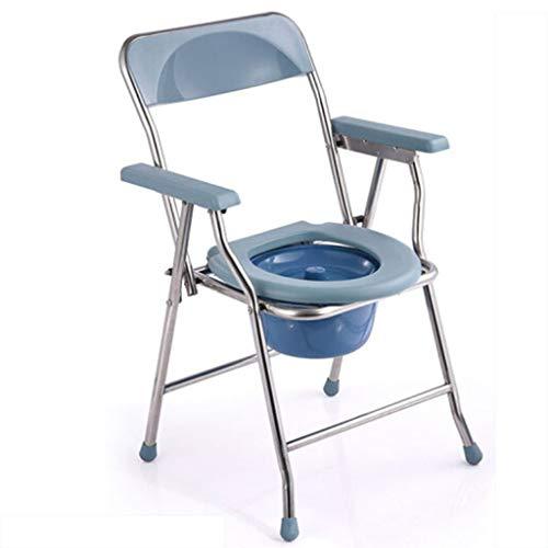 plegable Silla WC Con cojín y funda,Para ancianos mujeres embarazadas y discapacitados...