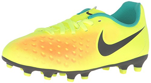 Nike JR Magista Ola II FG, Botas de fútbol Unisex Adulto, Amarillo (Volt/Black-Total Orange-Clear Jade), 38 EU