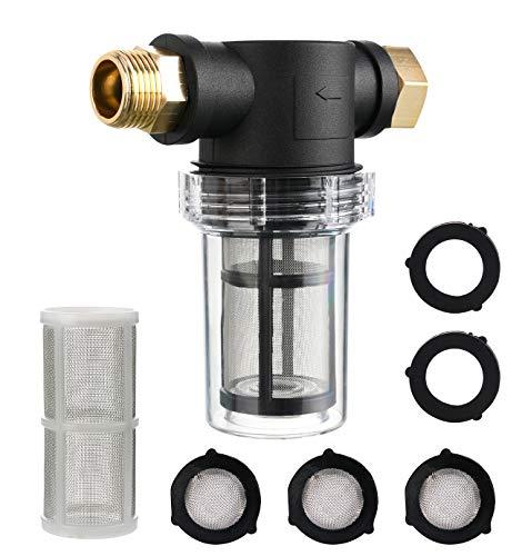 Tool - Filtro de manguera de jardín diario para agua de entrada a presión, filtro de sedimentos, con malla de 100 y pantalla de malla de 40