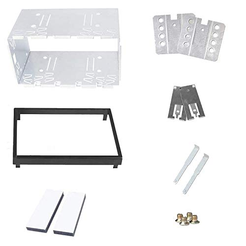 Universal Double 2 Din Car Player Stereo Radio Replacement Fitting Cage Kit Installation