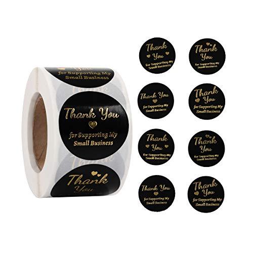 """Aufkleber, Aufschrift """"Thank You for Support My Small Business"""", 3,8 cm, 1000 Stück, runde Aufkleber für Taschen, Boxen, Taschentücher, Handwerk und Online-Verkauf 1.5 Inch"""