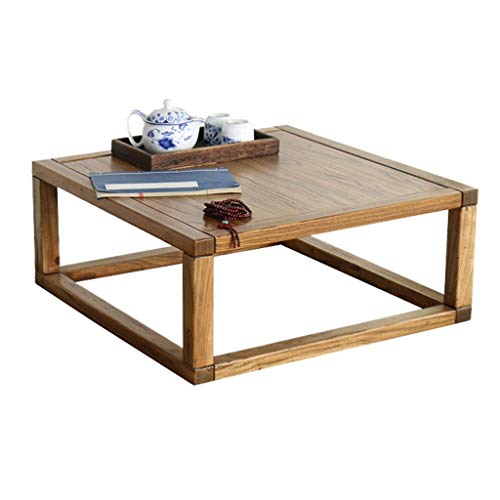Tables De Baie Vitrée Baie Vitrée Petite Carrée Maison De Thé Zen De Piano D'étude Basse De Salon Basses (Color : Brown, Size : 60 * 60 * 30cm)