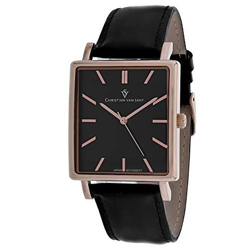 Christian Van Sant Ace CV0433 - Reloj casual para hombre, acero inoxidable, cuarzo, color negro