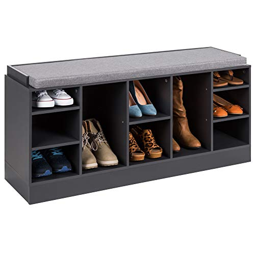 shoe bench organizer for entranceways