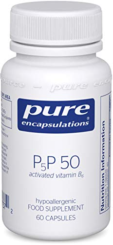 Pure Encapsulations - P5P 50 - Activated Vitamin B6 - Pyridoxal-5'-Phosphate Tiredness and Fatigue Supplement - 60 Capsules