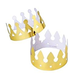 gold paper crown