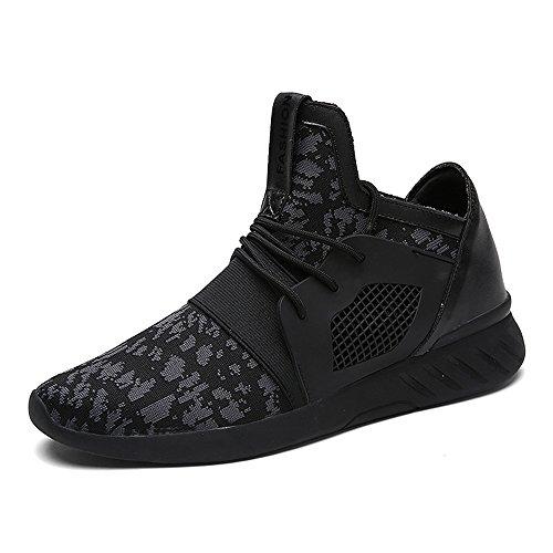 XIANV Sommer Herren Sneaker Mode Casual Schuhe Soft Breathable Mesh Frühjahr Lace-up Männer Schuhe Bequeme Schuhe Männer (45, grau)