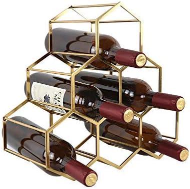 Luckya Fees free!! Wine Rack 6 Metal Sales for sale B Bottles
