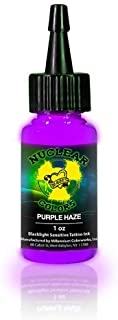 MOM'S Nuclear UV Blacklight Colors Tattoo Ink - Purple Haze UV Blacklight Ink - 1/2oz by moms
