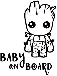 Pegatina Vinilo Bebe Groot a Bordo, Baby Groot on Board, Varios Tamaños