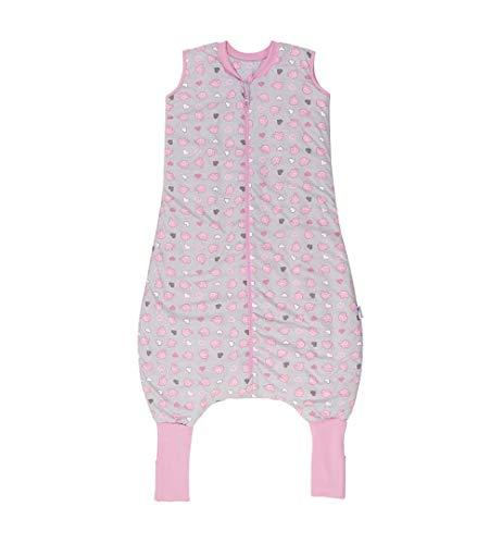 Slumbersac - Saco de dormir de verano con pies (1 tog, 5 – 6 años), color rosa