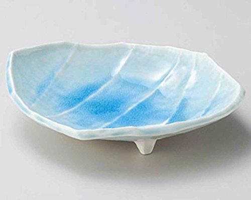 Marine Blue 9.1inch Medium Plate White Ceramic Made in Japan