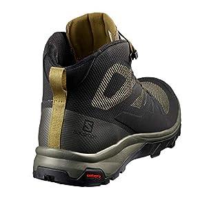 Salomon Men's Outline Mid GTX Hiking Boots, Black/Beluga/Capers, 11