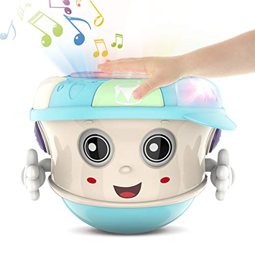Infant Toys Tumbler Baby Musical Toys for 6 12 18 Month Old Boys and Girls with Lights Sounds Music and Songs Baby Educational Learning Toy Gift for 1 2 Year Old Early Development Games