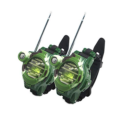 2 PCS Reloj walkie talkies para Niños Largo Alcance Radio de Dos vías de Camuflaje al Aire Libre Juguetes Ejército 150 Metros