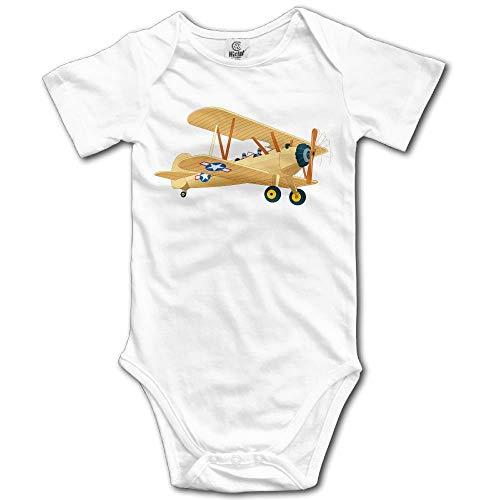 Conjunto de Ropa de Escalada para Bebés Unisex Avión Dibujado Vector Monos Mameluco Onesies Ligeros de Manga Corta 12 M